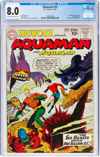 Showcase #31 Aquaman (DC, 1961) CGC VF 8.0 Off-white to white pages