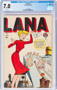 Lana #4 (Timely, 1949) CGC FN/VF 7.0 White pages