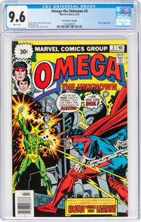 Omega the Unknown #3 30 Cent Price Variant (Marvel, 1976) CGC NM+ 9.6 White pages