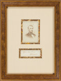 Political:Small Paper (pre-1896), Abraham Lincoln: Signature in Framed Display.. ...