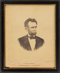 Political:Small Paper (pre-1896), Abraham Lincoln: Large Mounted Albumen Photograph by Warren.. ...
