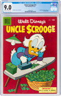 Golden Age (1938-1955):Cartoon Character, Uncle Scrooge #11 (Dell, 1955) CGC VF/NM 9.0 Off-white to white pages....