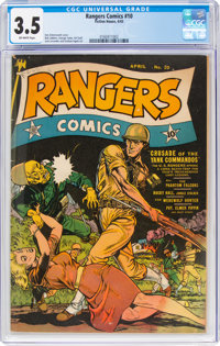 Rangers Comics #10 (Fiction House, 1943) CGC VG- 3.5 Off-white pages