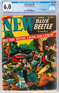 Blue Beetle #20 (Fox Features Syndicate, 1943) CGC FN 6.0 White pages