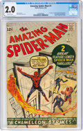Silver Age (1956-1969):Superhero, The Amazing Spider-Man #1 (Marvel, 1963) CGC GD 2.0 Off-white pages....