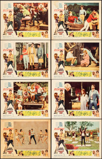 "Tickle Me (Allied Artists, 1965). Fine/Very Fine. Lobby Card Set of 8 (11"" X 14"") with Original Studio Envelop..."