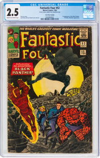 Fantastic Four #52 (Marvel, 1966) CGC GD+ 2.5 Cream to off-white pages
