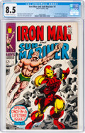Silver Age (1956-1969):Superhero, Iron Man and Sub-Mariner #1 (Marvel, 1968) CGC VF+ 8.5 Off-white to white pages....