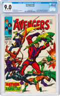 Silver Age (1956-1969):Superhero, The Avengers #55 (Marvel, 1968) CGC VF/NM 9.0 Off-white to white pages....