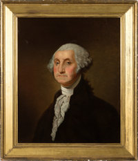 George Washington: Attractive Oil on Canvas Portrait