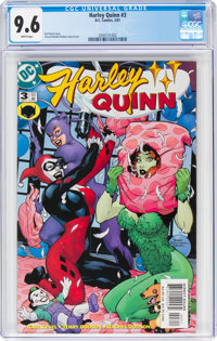 Harley Quinn #3 (DC, 2001) CGC NM+ 9.6 White pages