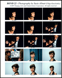 """Quantum of Solace (MGM, 2007). Very Fine/Near Mint. EON Color Contact Sheets (20) (9.5"""" X 12"""") Susie Allnutt P..."""