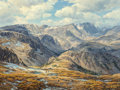 Fine Art - Painting, American, Clyde Aspevig (American, b. 1951). Mountains, 1980. Oil on canvas. 30 x 40 inches (76.2 x 101.6 cm). Signed and dated lo...