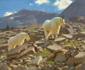 Fine Art - Painting, American, Tucker Smith (American, b. 1940). Glacier Goats, 1991. Oil on canvas. 30 x 36 inches (76.2 x 91.4 cm). Signed and dated ...