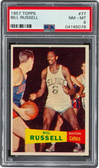 1957 Topps Bill Russell #77 PSA NM-MT 8