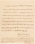 """Autographs:U.S. Presidents, James and Dolly Madison Autograph Document Signed """"James Madison"""" [and] """"D. P. Madison""""...."""