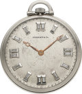 Timepieces:Pocket (post 1900), Touchon, Platinum, Diamond Dial Pocket Watch, circa 1915. ...