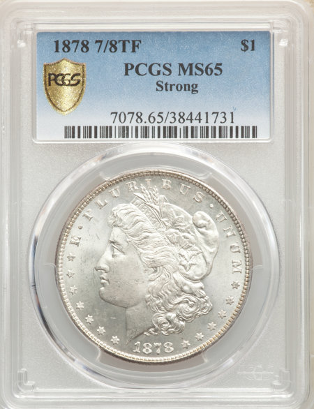 1878 7/8TF S$1 STRONG PCGS Secure 65 PCGS