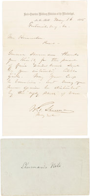 General William T. Sherman: Autograph Letter Signed (ALS)