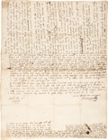 Autographs:Non-American, Oliver Cromwell Autograph Letter Signed ...