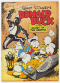 Golden Age (1938-1955):Cartoon Character, Four Color #159 Donald Duck (Dell, 1947) Condition: FN/VF....
