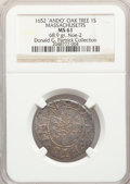 1652 SHILNG Oak Tree Shilling, ANDO, MS61 NGC. Noe-2, W-440, Salmon 1-B, R.7. Ex: Donald G. Partrick Collection. 68.(PCG...