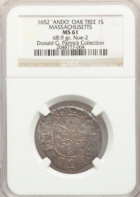 1652 Shilling Oak Tree, ANDO, MS 61 NGC