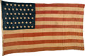 Military & Patriotic:WWII, U.S. 45-Star Personal Flag Used in the Liberation of Paris - 25 August 1944. . ...