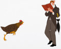 Animation Art:Production Cel, Lady and the Tramp Chicken and Man w...