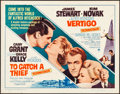 "Movie Posters:Hitchcock, To Catch a Thief/Vertigo Combo (Paramount, R-1963). Rolled, Very Fine-. Half Sheet (22"" X 28""). Hitchcock.. ..."