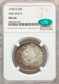 1938-D 50C Arkansas MS66 NGC. CAC. NGC Census: (42/14). PCGS Population: (151/27). CDN: $350 Whsle. Bid for problem-free...