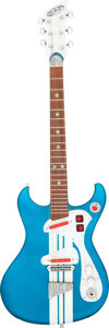 Musical Instruments:Electric Guitars, 1999 DiPinto Mach IV Blue Solid Body Electric Guitar, Serial #A040.. ...