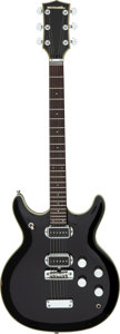 Musical Instruments:Electric Guitars, Circa 1972 Acoustic Black Widow Black Solid Body Electric Guitar, Serial #BA2007.. ...