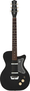 Musical Instruments:Electric Guitars, Circa 1959 Danelectro U2 Black Solid Body Electric Guitar, Serial #1017.. ...