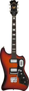 Musical Instruments:Electric Guitars, 1964 Guild Thunderbird Sunburst Solid Body Electric Guitar, Serial # 29735.. ...