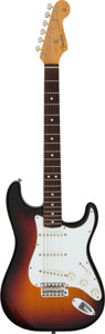 Musical Instruments:Electric Guitars, 1982 Fender Stratocaster Sunburst Solid Body Electric Guitar, Serial #V001595.. ...