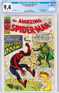 The Amazing Spider-Man #5 (Marvel, 1963) CGC NM 9.4 White pages