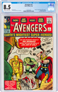 Silver Age (1956-1969):Superhero, The Avengers #1 (Marvel, 1963) CGC VF+ 8.5 Off-white to wh...