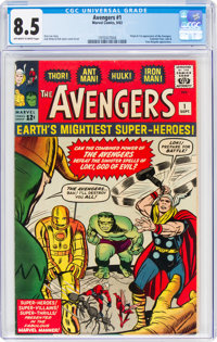 The Avengers #1 (Marvel, 1963) CGC VF+ 8.5 Off-white to white pages