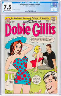 The Many Loves of Dobie Gillis #21 (DC, 1963) CGC VF- 7.5 Off-white to white pages