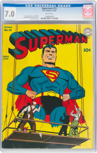Superman #21 (DC, 1943) CGC FN/VF 7.0 White pages