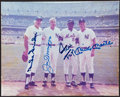 Autographs:Photos, Snider, DiMaggio, Mays & Mantle Multi-Signed Photograph. ...