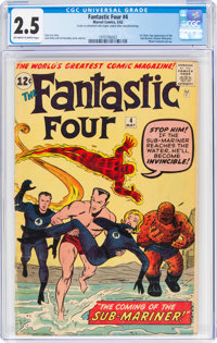 Fantastic Four #4 (Marvel, 1962) CGC GD+ 2.5 Off-white to white pages