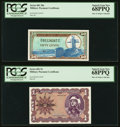 Military Payment Certificates:Series 681, Series 681 50¢; $1 PMG Superb Gem New 68PPQ.. ... (Total: 2 notes)