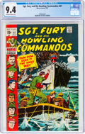 Bronze Age (1970-1979):War, Sgt. Fury and His Howling Commandos #87 (Marvel, 1971) CGC NM 9.4 Off-white to white pages....