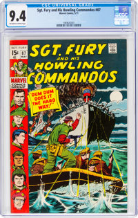 Sgt. Fury and His Howling Commandos #87 (Marvel, 1971) CGC NM 9.4 Off-white to white pages