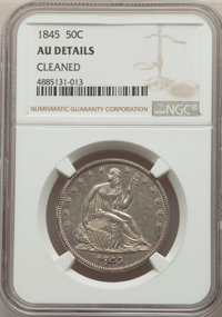 1845 50C -- Cleaned -- NGC Details. AU. NGC Census: (8/36). PCGS Population: (14/53). CDN: $500 Whsle. Bid for problem-f...
