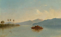 Judah LeVasseur (American, 19th Century) Lake Nicaragua, circa 1840 Oil on canvas 12 x 20 inches