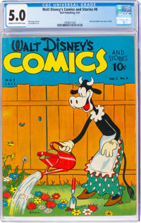 Walt Disney's Comics and Stories #8 (Dell, 1941) CGC VG/FN 5.0 Cream to off-white pages