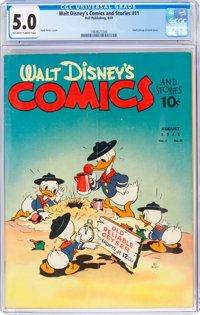 Walt Disney's Comics and Stories #11 (Dell, 1941) CGC VG/FN 5.0 Off-white to white pages